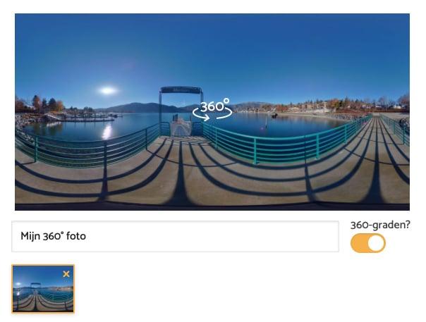 360° foto toevoegen op de BouwApp